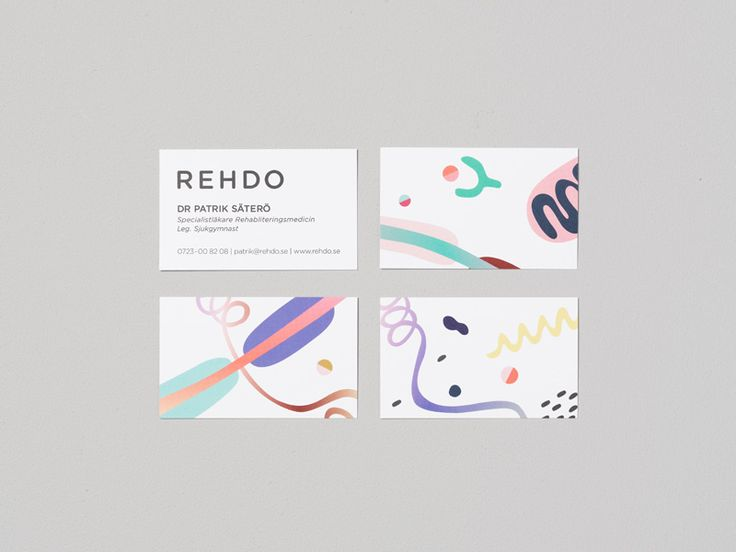 Business cards for Rehdo
