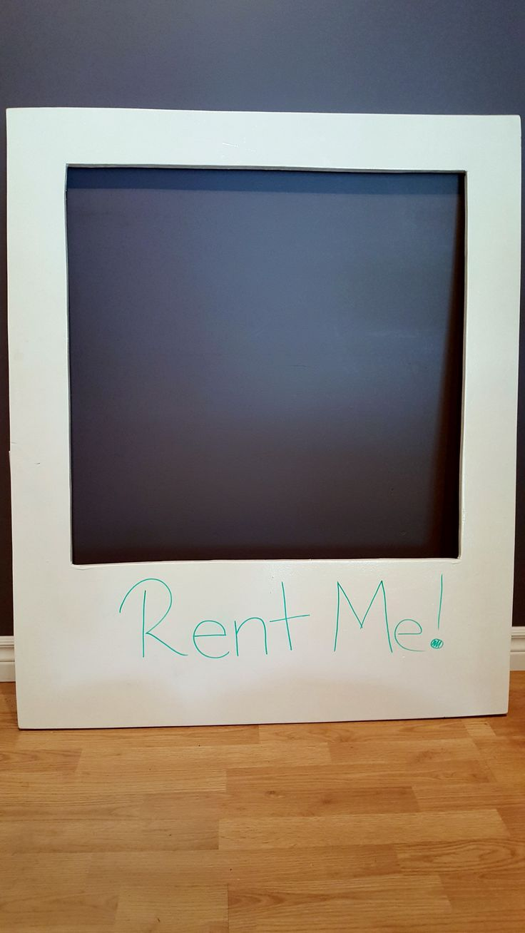 Be the first to rent our *NEW* Polaroid picture WHITE BOARD!  Perfect for photobooths at weddings, birthday parties and retirements!