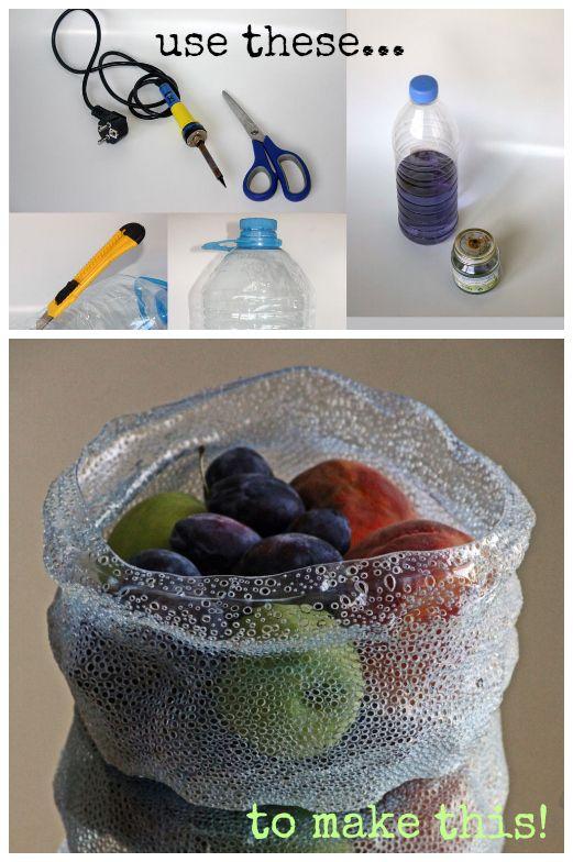 Refab Diarios: Upcycle: Botella plástica en Arte Tazón
