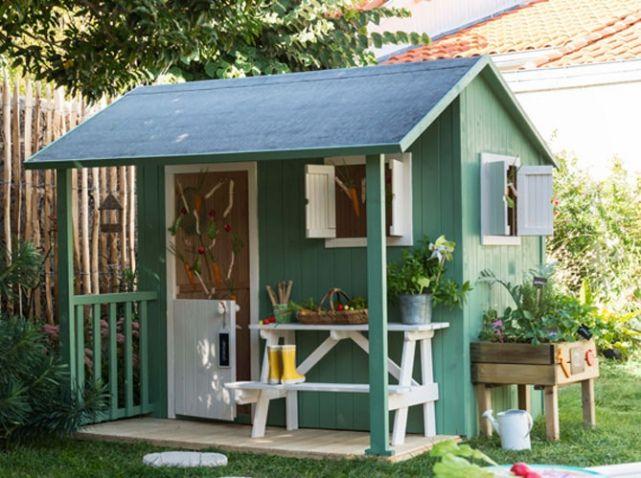 ... Cabane-pour-enfants-de jardin, Cabane jardin enfant et Tente de jardin