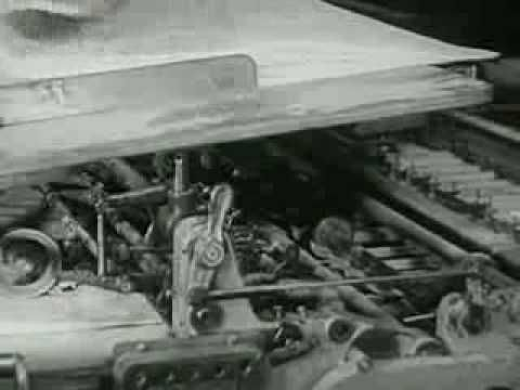 "Printing a Book, Old School (""making a book"" educational film from 1947)"