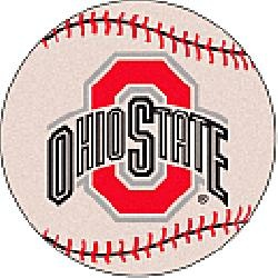 Fanmats Ohio State Buckeyes Baseball-Shaped Mat