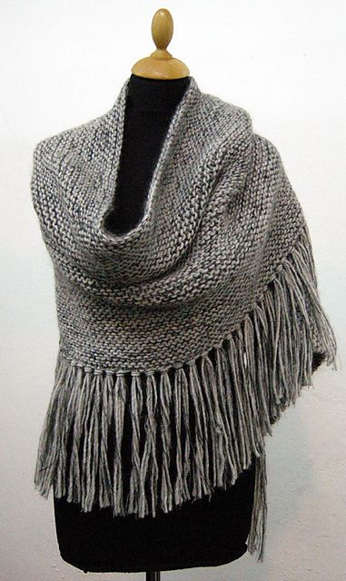 Knit Wrap/Poncho/Big scarf .... I'd like to do this all in seed