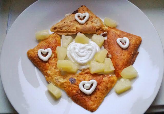 Otrębowe tosty na słodko