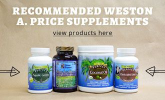 Click here to learn about the recommended supplements for people following the Weston A. Price diet.
