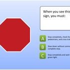 This PowerPoint show serves as a practice test for learners who are interested in getting a learners permit to drive.  Correct responses are posit...