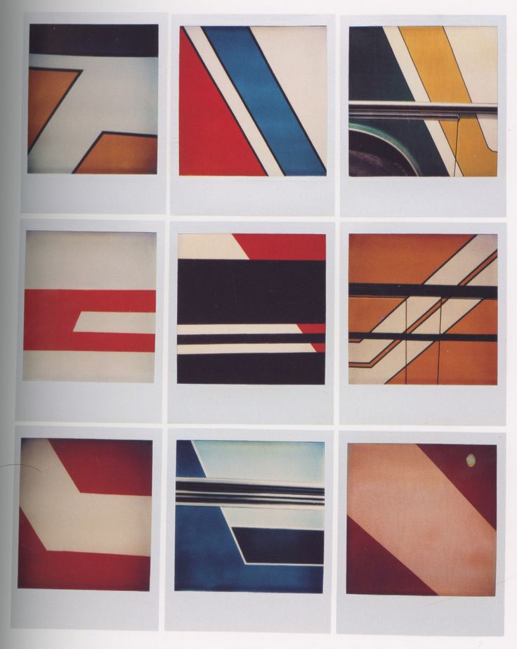9x Abstract. Polaroids by Bruno Bourel.