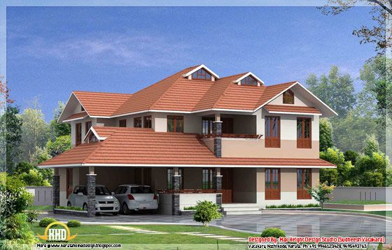Ground Floor Elevation With Portico : Beautiful kerala style house elevation square feet