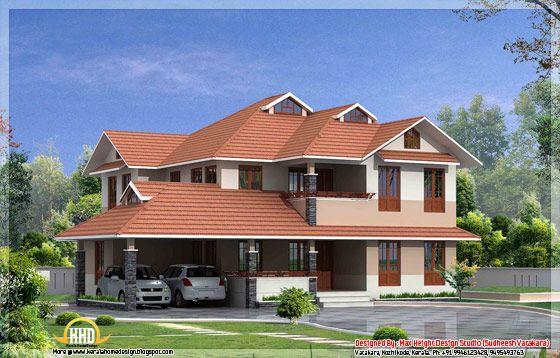 Beautiful Kerala Style House Elevation 52610 Square Feet