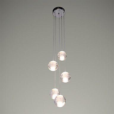 3 Lámparas Colgantes , Moderno / Contemporáneo Cromo Característica for Cristal LED Metal Comedor – USD $ 180.19