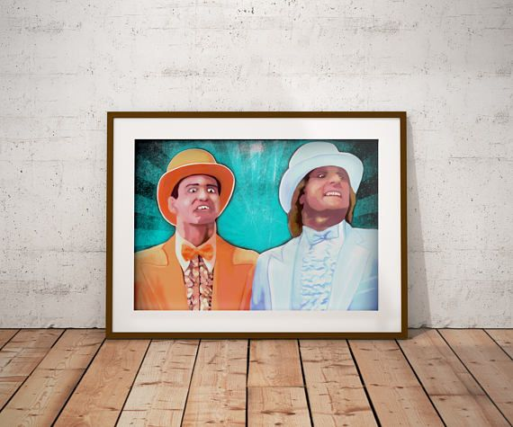 Check out this item in my Etsy shop https://www.etsy.com/ca/listing/525708096/dumb-and-dumber-harry-and-lloyd-jim