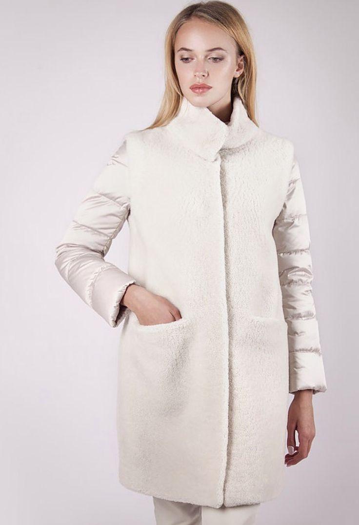 Женская коллекция. Меховое пальто-трансформер из овчины керли. Laplandia For Women