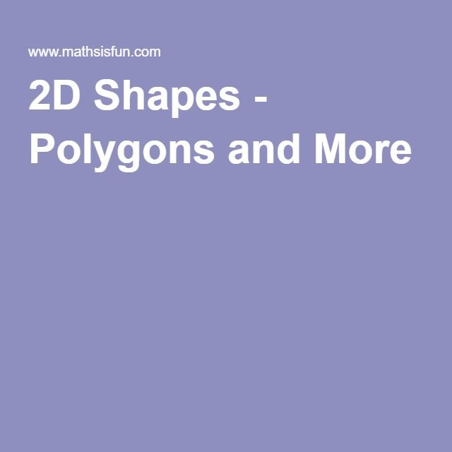 2D Shapes - Polygons and More