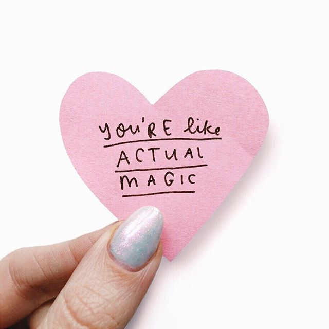 Yes you! The one who has had a tough week, the one who has had an absolutely amazing week, the one who did something incredible, the one who did something tiny that made or will make a huge difference, the one who had a meltdown on Tuesday but made it through... you're absolutely magic💫