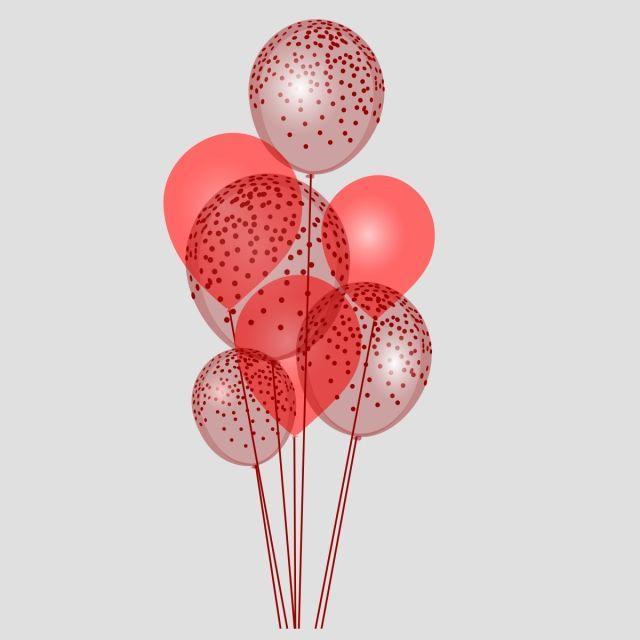 Maroon Party Balloon Colored Balloons Festival Vector Balloon