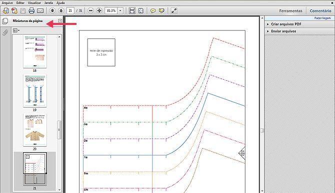 molde de costura em PDF - como imprimir e montar                              …