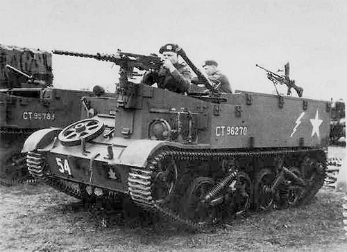 The Carrier, Universal, T16, Mark I. was a significantly improved vehicle based upon those built by Ford of Canada, manufactured under Lend Lease by Ford in the United States from March 1943 to 1945.