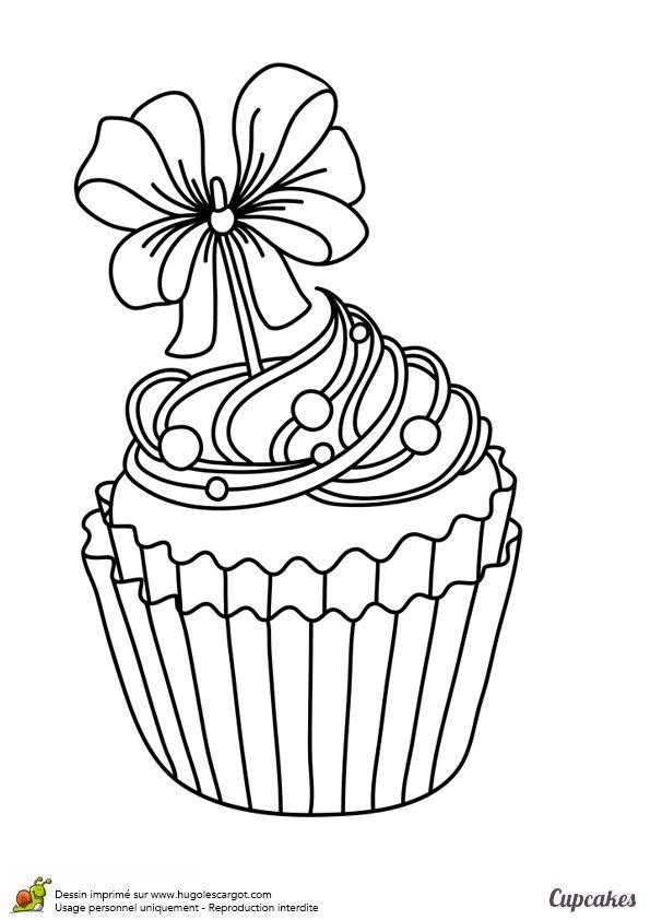 Un cupcake festif et exquis à imprimer et à colorier - Hugolescargot.com