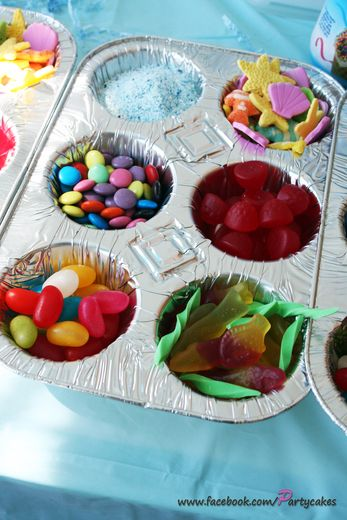 cupcake party ideas-for a cupcake decorating/tea partie, you could put all the candies and sprinkles in tea cups