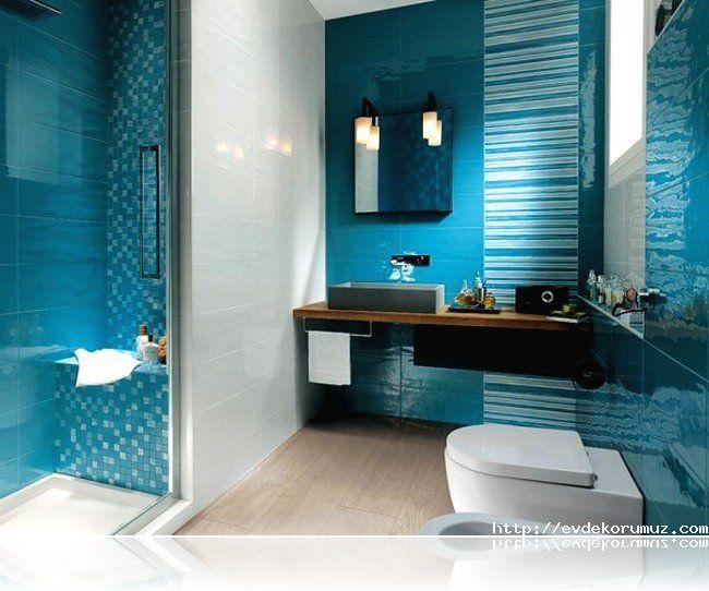 Mavi Banyo Modelleri