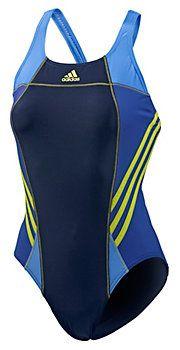 adidas Schwimmanzug Damen navy/gelb im Online Shop von SportScheck