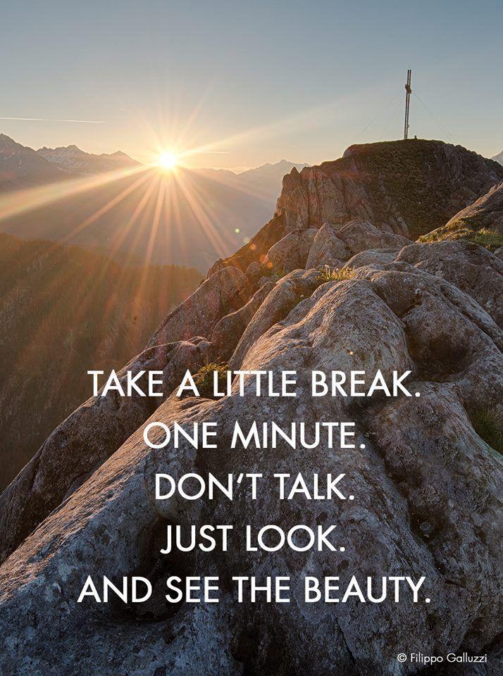 Kleine Pause... ❤ #zitat #berge #sonnenaufgang #ahrntal