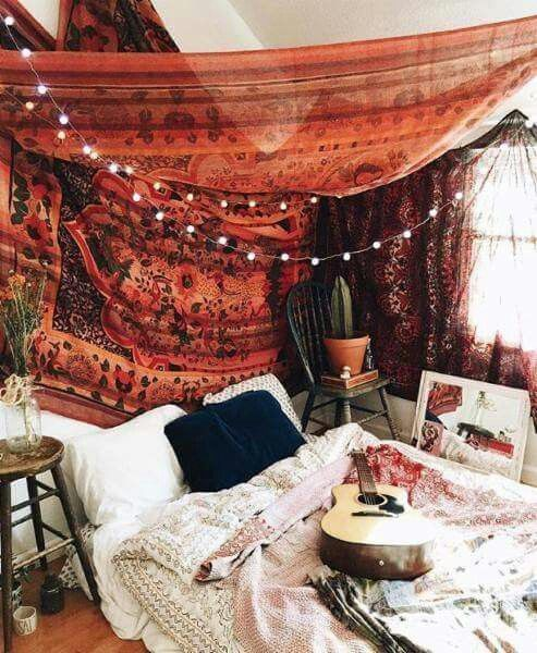 ☮ American Hippie Bohéme Boho Lifestyle ☮ Bedroom                                                                                                                                                                                 More