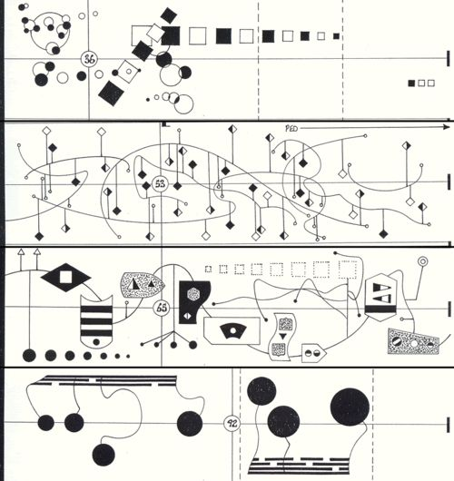 "John Cage ""Score for Imaginary Landscape No. 5"":    [image]"