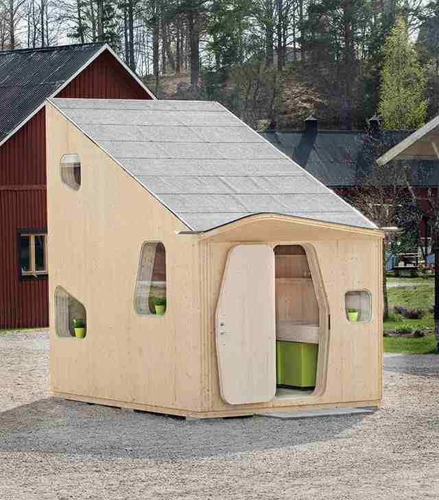 An affordable and sustainablehousingsolution for students of Lund University, Sweden designed bySwedish firm Tengbom. Each unit requires about 10 square meter. This small compact compartment still offers comfortable sleeping loft,