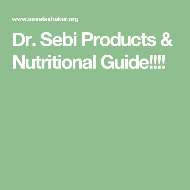 Dr. Sebi Products & Nutritional Guide!!!!