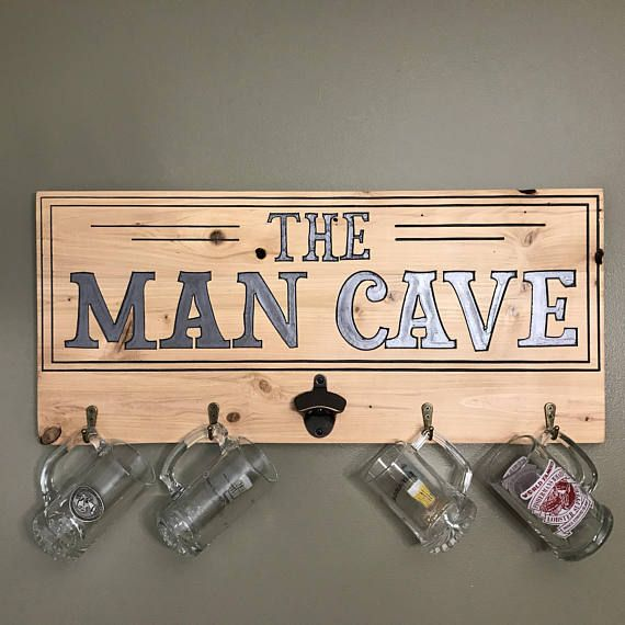 Man cave bar beer sign art wall decor wall art