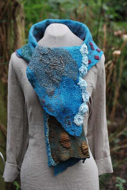 Felted scarf by sassafrasdesign, via Flickr