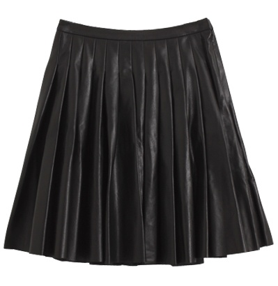 Leather Tuck Skirt