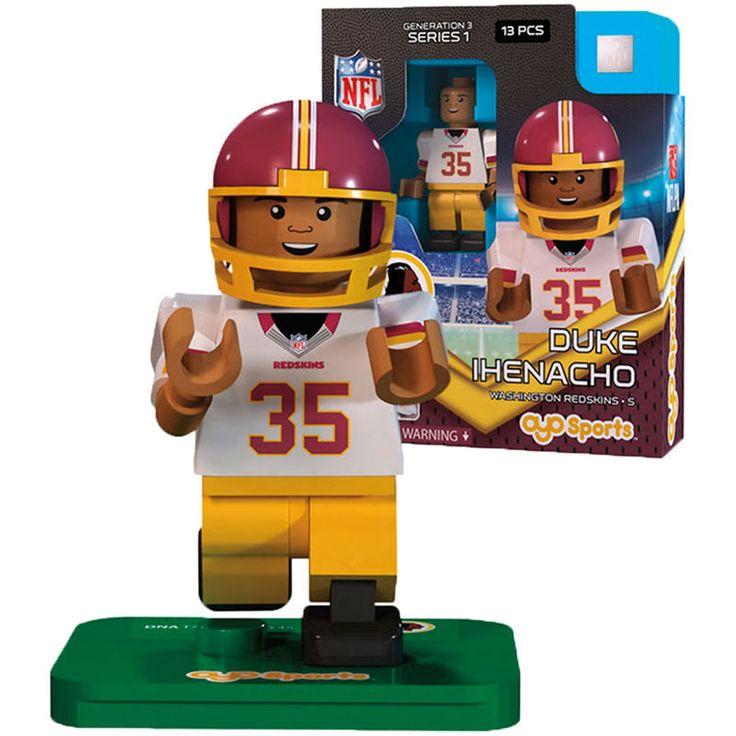 3cd929319d20 ... Nike NFL Burgundy Red Duke Ihenacho OYO Sports Washington Redskins  Player Minifigure ...