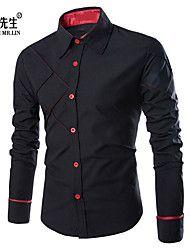 Camisa De los hombres Casual Cuadros Escoceses - ... – USD $ 12.99