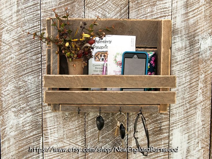 MAIL ORGANIZER, Mail Organizer Wall, Letter Holder, Rustic Mail Organizer, Key Holder, Mail Holder, Message Board, Mail Rack, by NewEnglandBarnwood on Etsy https://www.etsy.com/listing/220786216/mail-organizer-mail-organizer-wall