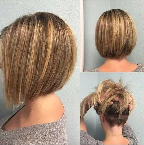 Bob Haircut mit einzigartigen Back View