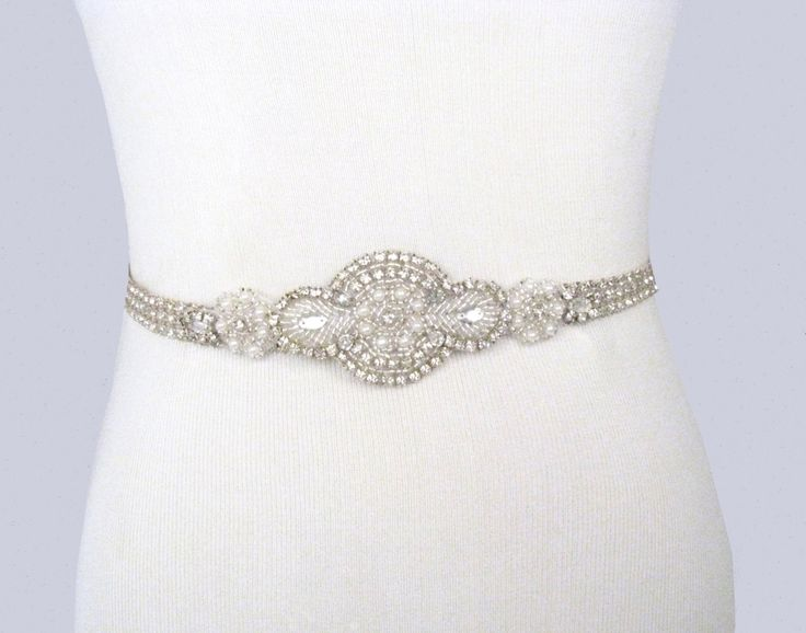 25 best ideas about rhinestone wedding dresses on for Rhinestone belts for wedding dresses