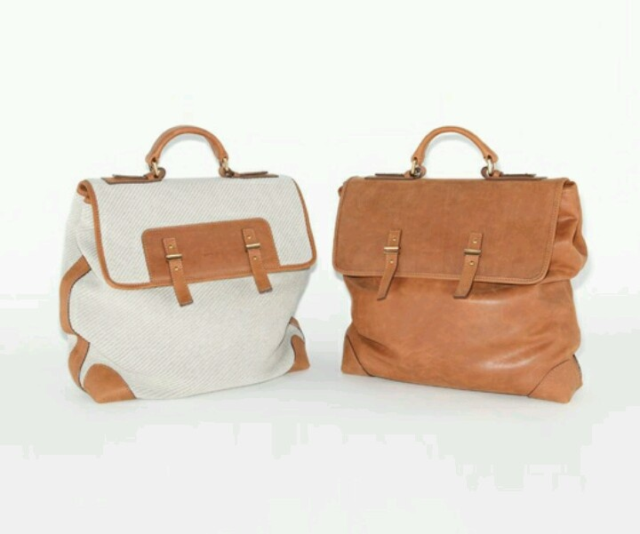 Leather n leather mix with canvas