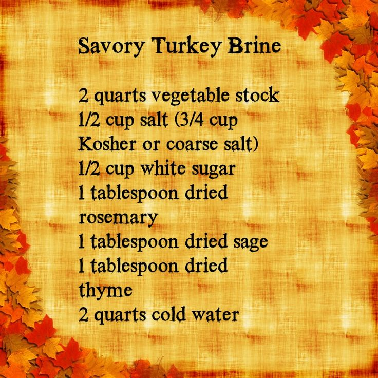 Use this savory turkey brine for your next deep fried turkey!     For more brines and recipes, check out: http://howtodeepfryturkey.com/recipes/