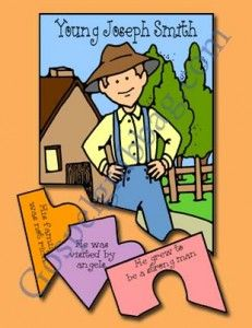 JOSEPH SMITH: Primary 3 CTR-B, Lesson 4, Primary 3 manual, Joseph Smith's Childhood, Primary Lesson Helps, Sunday Savers book or CD-ROM, Gos...