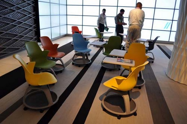 Modern Classroom Interior : Modern classroom interior design node chair by steelcase