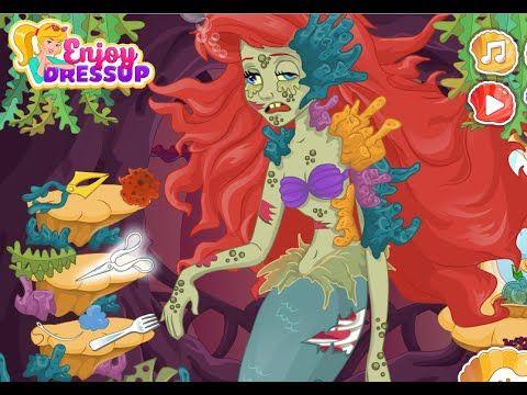 The Little Mermaid  Ariel Zombie Curse - Funny Disney Princess Ariel Games
