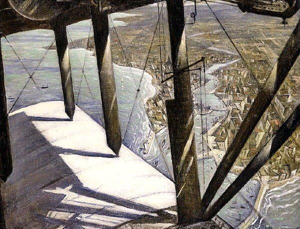 From a Paris Plane by CHRISTOPHER RICHARD WYNNE NEVINSON - Peter Nahum At The Leicester Galleries