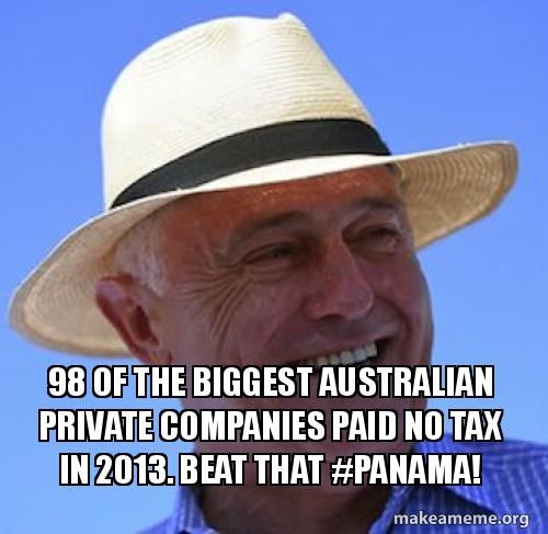No wonder Malcolm Turnbull won't touch the bleeding wound of offshore banking