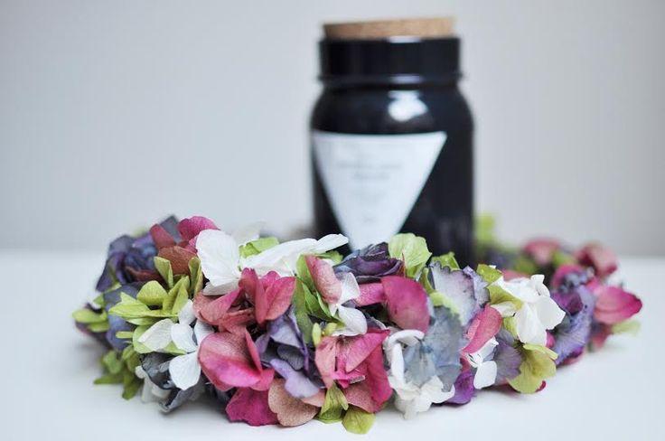 Corona flores preservadas Mod:0045
