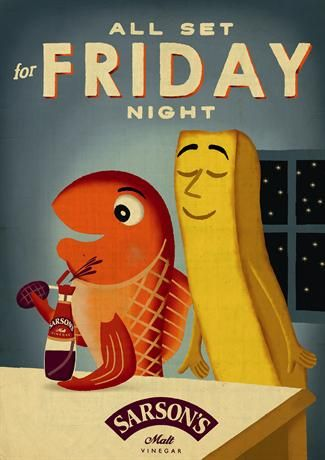 """Sarson's """"the fish and chip campaign"""" by Mcgarrybowen 
