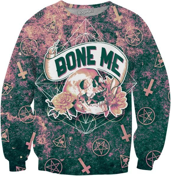 Share your romantic side with this occult-inspired, all-over-print Bone Me Crewneck Sweatshirt from our Urban Threads Brand! Get yours today, only at RageOn!