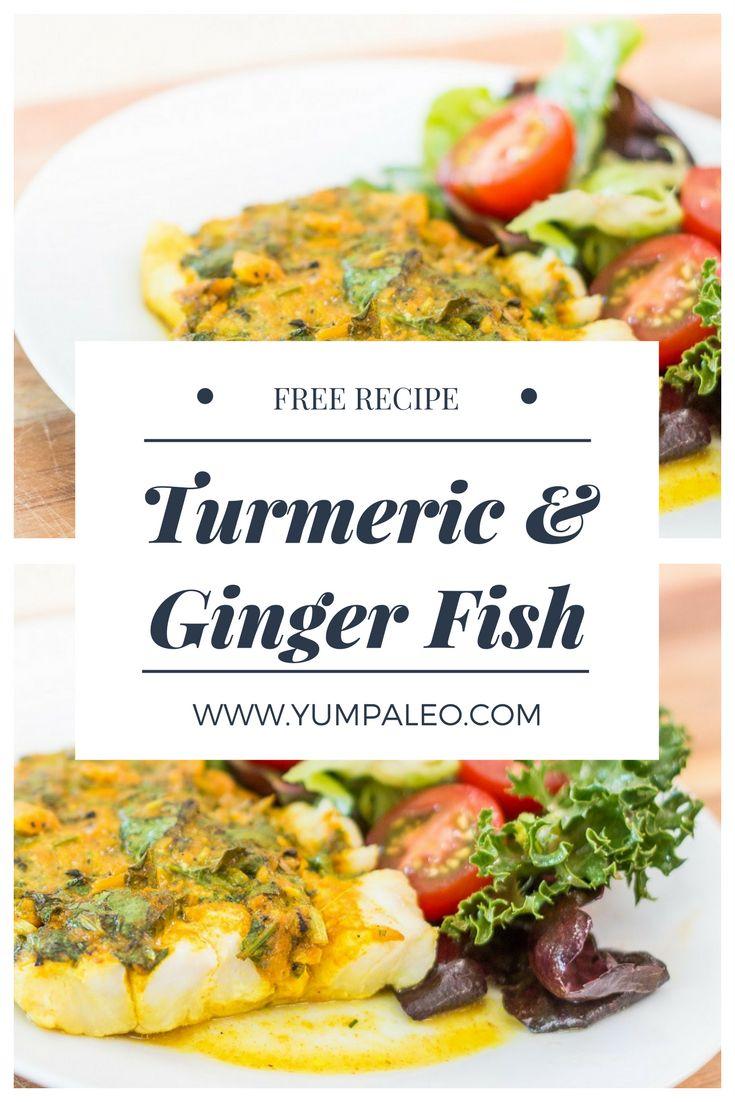 #yumpaleo #healthy #delicious #seafood #turmeric #ginger #foodporn #recipes