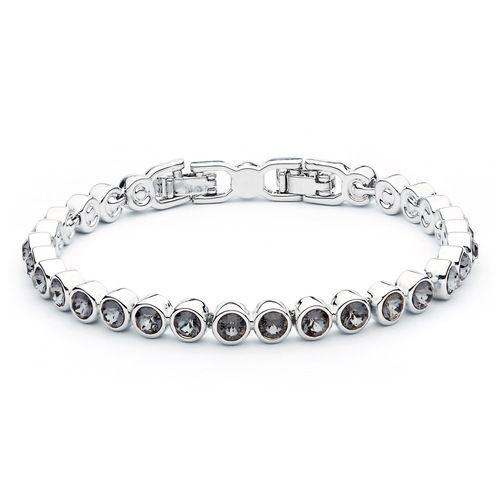 Tennis Bracelet with Black Diamond Swarovski® Crystals